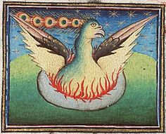 Phoenix, from a ms in the Museum Meermanno, Den Haag.