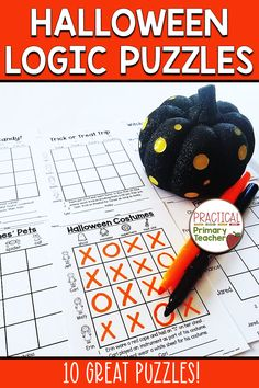 Are you looking for fun, yet educational, Halloween activities? These Halloween Logic Puzzles are perfect! Students can begin solving introductory grid logic puzzles with a Halloween theme. Excellent for critical thinking and problem solving practice. Use at your Halloween party or for Halloween morning work. Fun Halloween Activities, 1st Grade Activities, Halloween Math, Holiday Activities, Reading Stations, Math Stations, Critical Thinking Activities, Teachers Toolbox, Logic Puzzles