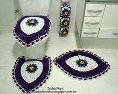 Jogo de banheiro 4 peças em crochê