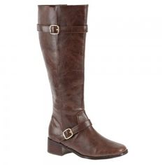 Medium heel boot shoe for women, a casual, couture shoe in brown color by Annie at $79.00