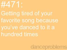 "happens every single recital. for example, ""save me"" and ""skyfall""."