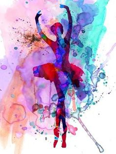 Ballerina's Dance Watercolor 3 Poster Print by Irina March