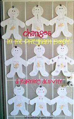 Changes in the pregnant body childbirth education activity Class Games, Class Activities, Educational Activities, Family Activities, Pregnancy Classes, Pregnancy Quotes, Newborn Care, Infant Care, Antenatal Classes