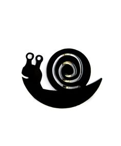 Snail brooch - shiny black or white - plexiglass jewelry - modern ladies accessories by Nechegonadet on Etsy