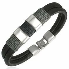 Male Mens Modern Surfer Style Leather Bracelet Jewelry Alittlestyle Mens, http://www.amazon.com/dp/B008OM27NO/ref=cm_sw_r_pi_dp_e48qrb18QZGNF