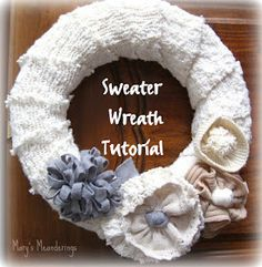 Sweater Wreath Tutorial