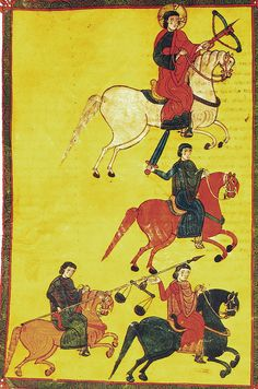 The Four Horsemen of the Apocalypse, El Burgo de Osma Beatus Codex, Beatus of Liébana, Spain