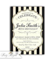 Elegant 30th Birthday Invitations For Women Womens 13th 70th Invites