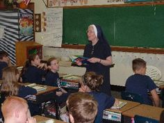 Sister Jeannette Schregel brings inspiration to her 5th grade class at DeSales Catholic in Lockport, NY