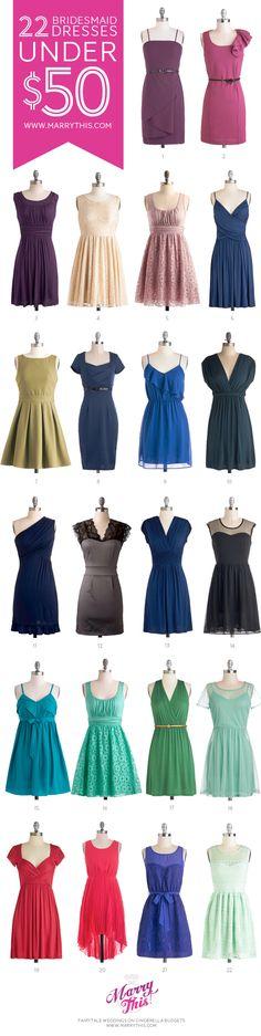 22 Bridesmaid Dresses Under $50