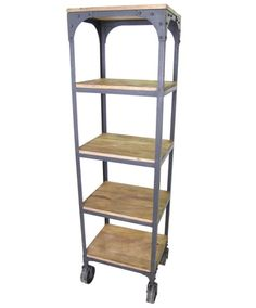 This fabulous urban bookshelf has bold metalwork and durable slab shelves. It would fit wonderfully in an industrial space or a modern apartment. The shelving is made of sheesham (Indian rosewood) and