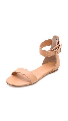 Isa Tapia Juanita Scalloped Flat Sandals