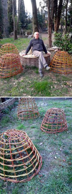 Salice, Garden Cloche, Garden Seating, Benches, Firewood, Canning, Chicken, Blog, Crafts
