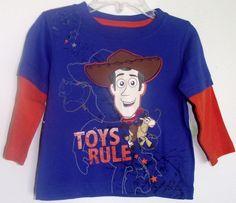 "Disney Woody Toy Story "" Toys Rule "" Long Sleeve Woody Shirt 24 Months NWT #Disney #Everyday"