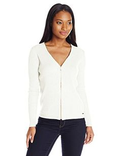 bf96b5497a Shop a great selection of Calvin Klein Calvin Klein Women s Ribbed  Zipper-Front Cardigan Sweater. Find new offer and Similar products for Calvin  Klein ...