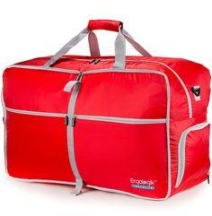 ErgaLogik TraveLite Foldable 80L/40L Waterproof Travel Duffel Bag for Sports