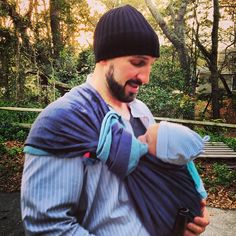 Daddy babywearing via @whitneynorko on instagram