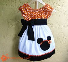 This would be an adorable outfit for a birthday girl to wear for a Minnie mouse themed party.