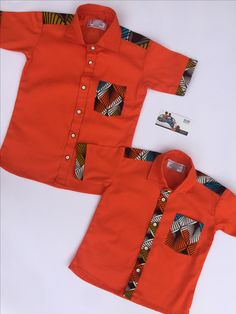 African print Matching shirts for kids by BAYABS. Find more African fashion for kids on Facebook: BAYABS and @bayabsgh_kids on Instagram