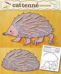 This would make a great hedgehog craft for The Mitten!