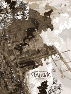 "Stalker by Zotho Lhun.  18"" x 24"" 11-color Screenprint.  Ed of 75 N.  £65 ($92) (variant)"