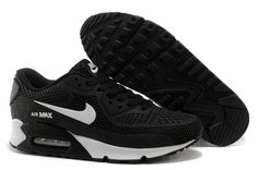 2014 Latest Nike Air Max 90 womens running shoes black white on sale,for Cheap