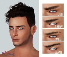 "andhisrabbits: "" Eyebrows for males ♥ • T-EM • hand drawn (yeah I know they're not perfect) • custom thumbnails (sorry if they're not working, sometimes they do, sometimes don't, I have no idea..."