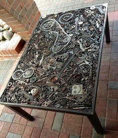 The Coolest DIY Coffee Tables Ideas DIY Projects is part of Steampunk furniture - The Coolest DIY Coffee Tables Ideas Steampunk Furniture, Metal Furniture, Industrial Furniture, Cool Furniture, Furniture Design, Outdoor Furniture, Automotive Furniture, Inexpensive Furniture, Recycled Furniture