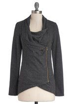 Airport Greeting Cardigan in Charcoal | Mod Retro Vintage Sweaters | ModCloth.com