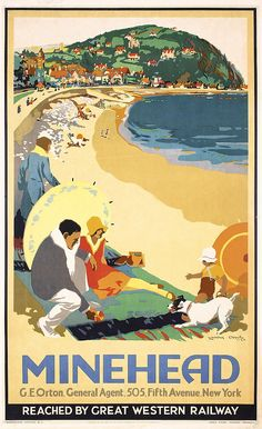 STUNNING Original 1920s British Seaside Travel Poster