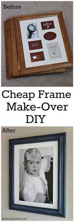 Cheap Frame Make-Over DIY {lifeshouldcostless.com)