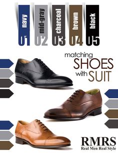 "Matching suits with shoes.We do this every day. Easy, right? ""Black shoes go with any suit since black is neutral…"" Wrong!"