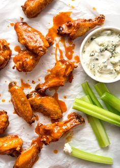 No false promises here! These Oven Baked Buffalo Wings are SERIOUSLY crispy. Tossed in a classic hot sauce for the ultimate buffalo wings!