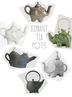 Use an elephant tea pot.because what could possibly be cuter than an elephant tea pot? Elephant Love, Elephant Art, Elephant Teapot, Elephant Stuff, Teapots And Cups, Chocolate Pots, Deco Design, Pics Art, Tea Set