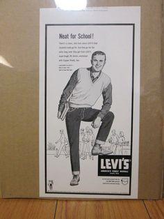 Vintage LEVI'S advertisment department proofs for Levi Collection Levis Jeans, Denim, Advertising, Ads, Tin Signs, Fire Department, Vintage Levis, Overalls, Vintage Outfits
