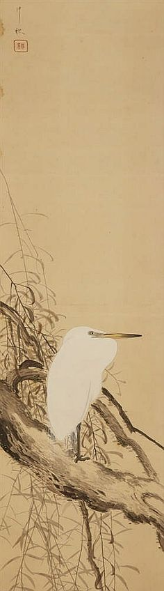 A hanging scroll by an unidentified painter of the early 20th century
