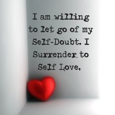I surrender. Today I turn over all fearful projections that I have placed upon myself. I release all self-doubt and attack today. In this moment, I choose to let it all go. I am willing to be guided to new projections. I am willing to love myself again. Inner Guide, please take the steering wheel and show me how to truly surrender my fear so I can wholeheartedly love myself again.