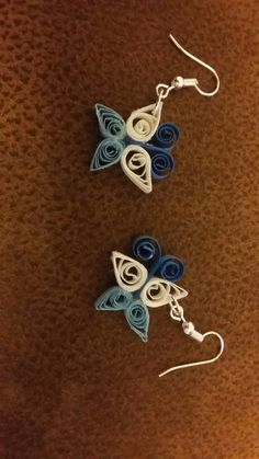 Quilled butterfly earings by Charlotte Cranmer
