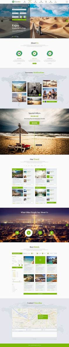 Beautiful PSD template for travel agencies website - Download New Themes