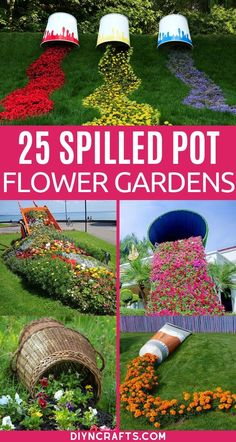 This list of spilled flower pot ideas is perfect for adding beauty to your lawn and garden!  Simple and complex garden ideas for any yard! This list of spilling flower pots is a great way to add a truly unique landscape to your lawn or garden. #SpilledPotGarden #Flowers #Garden #Gardening #FlowerBed #Landscaping Unique Flowers, Diy Flowers, Purple Flowers, Flower Pots, Beautiful Flowers, Flowers Garden, Hibiscus Flowers, Cactus Flower, Exotic Flowers