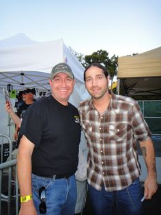 With country singer Josh Thompson at Shoreline Ampitheater (2010)