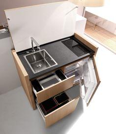 Móvel compacto de cozinha