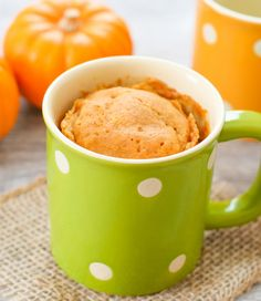 Skinny Pumpkin Mug Cake | Kirbie's Cravings | A San Diego food & travel blog