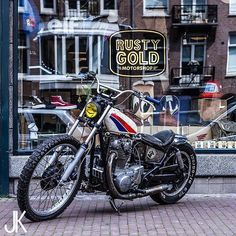 The #XS650 Dirt Quake build by Amsterdam's @rustygoldmotorshop shit by…