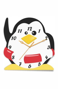 Here's a cute Penguin Clock for you to decorate your little one's room! :) Get it only on http://www.gloob.in/clock/penguin-clock.html