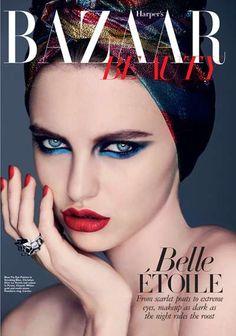 Vibrantly Turbaned Beautorials - Harper's Bazaar Beauty Singapore for December 2011