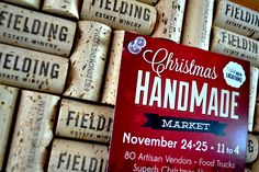 Embrace Giving at the Christmas HandMade Market - this great market happened at The Good Earth Food and Wine Co. and Fielding Estate Winery - fantastic way to support local business! Kwanzaa, Hanukkah, Handmade Market, Secret Santa, Giving, Food Truck, Handmade Christmas, Wine Recipes, Artisan