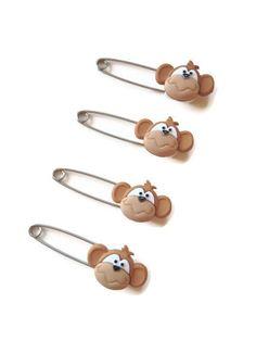 Little Monkey Diaper Pins  Baby Shower by PrincessAndThePbaby, $4.99 #diapercake #diapercupcake #Babyshower #babyshowercenterpiece #pregnancy #babygift #momtobe #babyshowergames #babyshowerfavors #etsy #handmade #princessandthepbaby #decoration #nursery #washclothlollipop #cake #cupcake #baby #children #kids #diaperpins #clothdiapering #clothdiaper #babyshowergames #ecofriendly #monkey #littlemonkey #junglebabyshower #safaribabyshower #mommyslittlemonkey #banana
