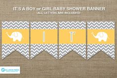 Elephant Printable Elephant Baby Shower Banner by EllisonReed Happy Birthday Elephant, Baby Boy Birthday, Baby Shower Printables, Baby Shower Themes, Printable Party, Shower Ideas, Elephant Themed Nursery, Elephant Baby, Boy Nursery Colors