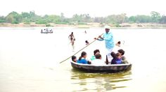 #Guests #enjoying #coracle #ride (#thapa ride) as part of fun #activities @ #talakadu near #ChukkiMane. Visit our website www.chukkimane.com for more...